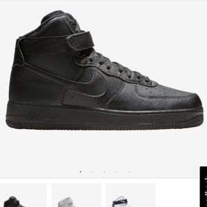 Men's 10.5 Black Nike Air Force One High Tops NWOT